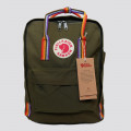 Kanken Classic (Forest Green Rainbow)