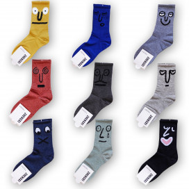Носки с весёлыми лицами