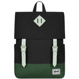 8848 / Рюкзак Пятачок на крышке (черно-зелёный)
