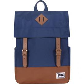 8848 / Рюкзак Пятачок на крышке (сине-коричневый)