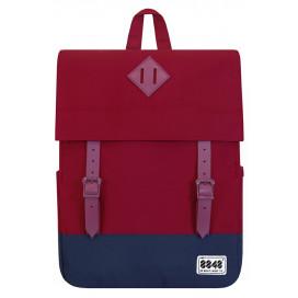 8848 / Рюкзак Пятачок на крышке (красно-синий)