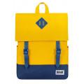 8848 / Рюкзак Пятачок на крышке (жёлто-синий)